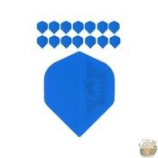 "Bull's 5-Pack POLYNA Plain Standaard Flight ""Blue"""