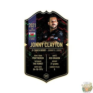 Ultimate Darts Jonny Clayton - Ultimate Darts Card