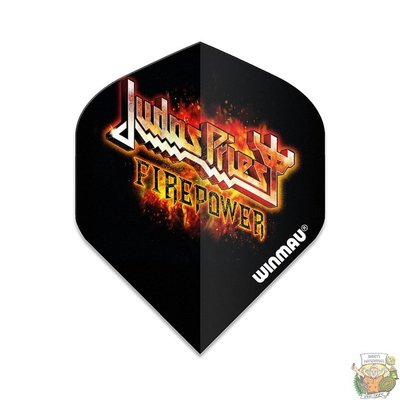 Winmau Judas Priest Flamingo logo Winmau Rockstar flights