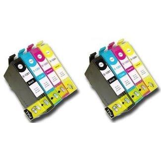 2x Huismerk Epson T1285 XL Multipack incl. Chip (8set)