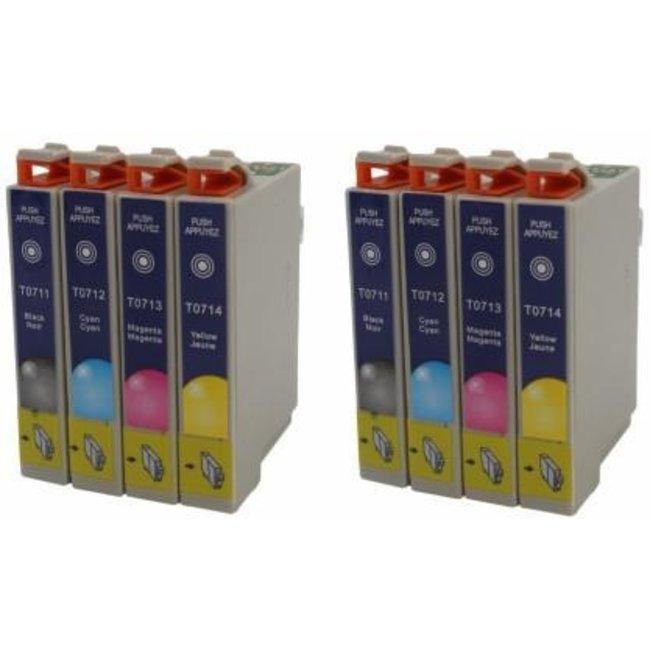 2x Huismerk Epson T0715 Multipack (8set)