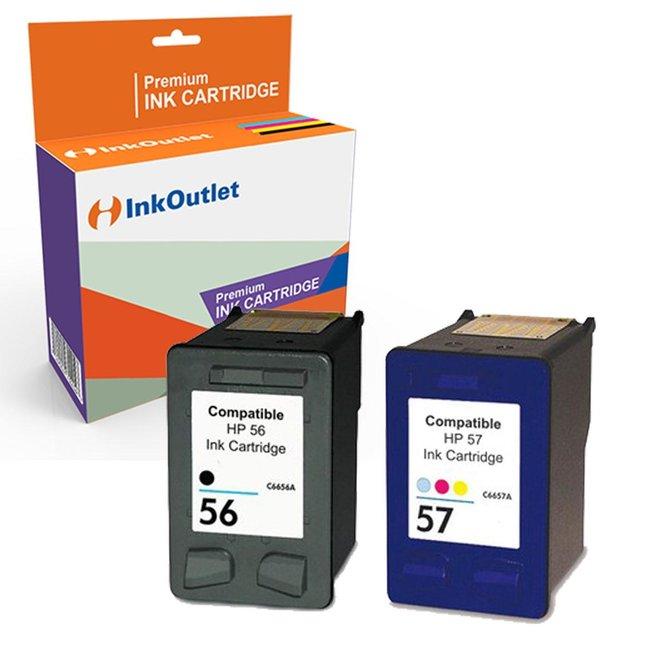 Huismerk HP 56XL Zwart + HP 57XL Kleur Multipack (2set)
