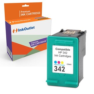 Huismerk HP 342XL inktcartridge Kleur