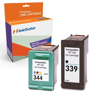 Huismerk Voordeelpak: HP 339 zwart + HP 344 kleur (C8767EE en C9363EE)