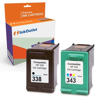 Huismerk Voordeelpak: HP 338 zwart + HP 343 kleur (C8766EE en C8765EE)