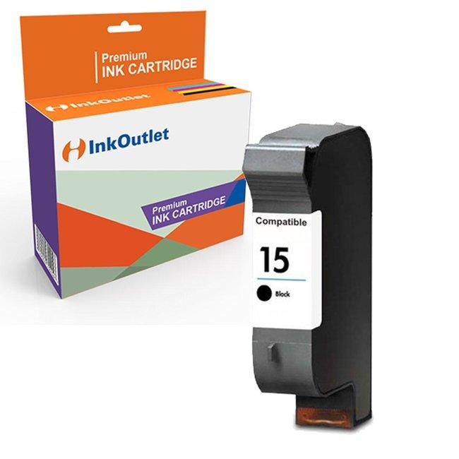 Huismerk HP 15XL (C6615D) inkt cartridge Zwart