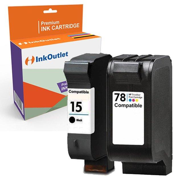 Huismerk HP 15XL + HP 78XL Multipack (2set)