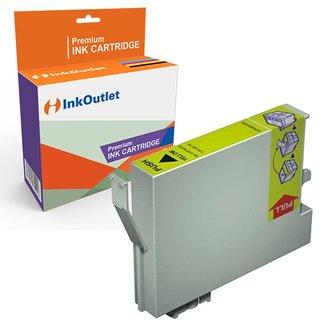Huismerk Epson T0554 geel inkt cartridge