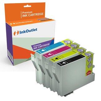 Huismerk Epson set T0551-T0554 inkt cartridge cyaan / magenta / geel / zwart