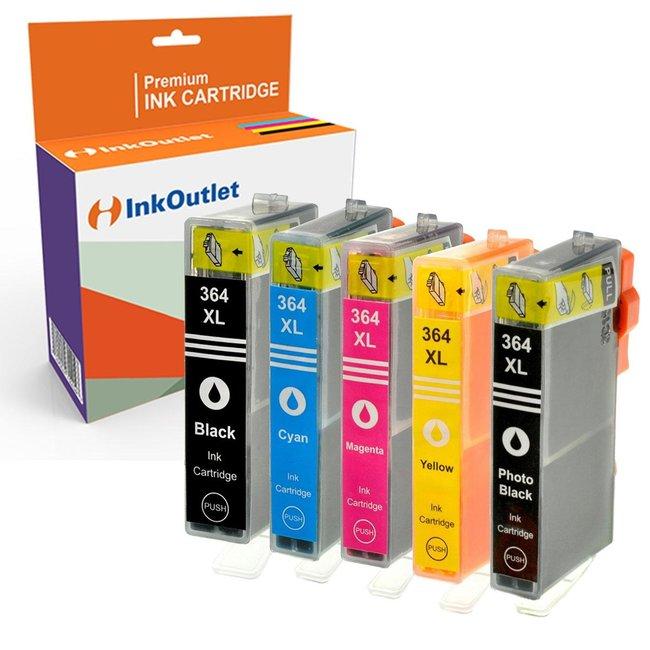 Huismerk HP 364XL Multipack incl. Chip (5set)