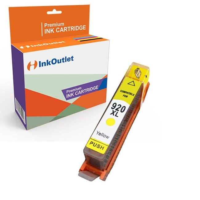 Huismerk HP 920XL inkt cartridge Geel incl. Chip