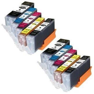 2 x Huismerk Canon PGI-570 XL + CLI-571 XL Multipack incl. Chip (10set)