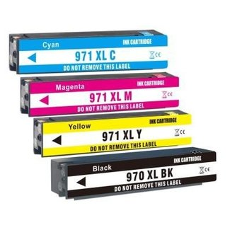 Huismerk HP 970XL + HP 971XL (CN625AE T/M CN628E) Multipack incl. Chip