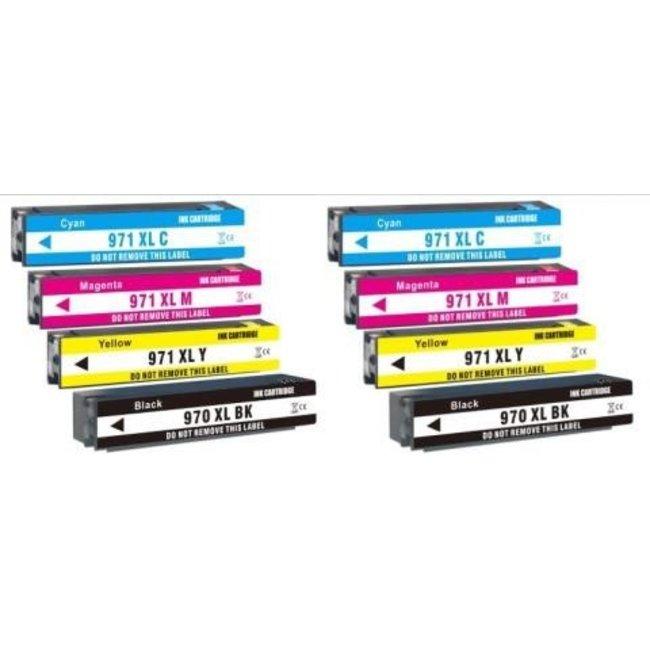 2x Huismerk HP 970XL + HP 971XL (CN625AE T/M CN628E) Multipack incl. Chip