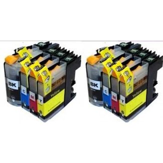 2x Huismerk Brother LC-223 XL Multipack incl. Chip (8set)