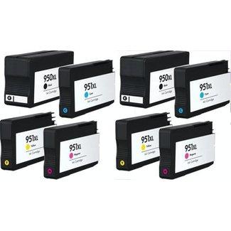 2x Huismerk HP 950XL + HP 951XL Multipack incl. Chip (8set)