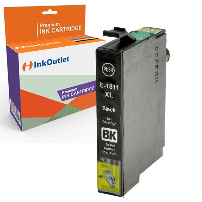 Huismerk Epson 18XL (T1811) Zwart incl. Chip