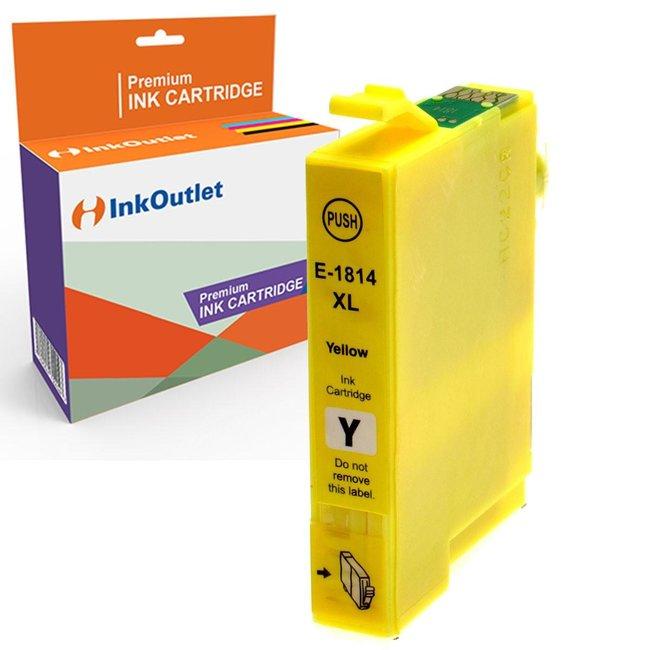 Huismerk Epson 18XL (T1814) Geel incl. Chip