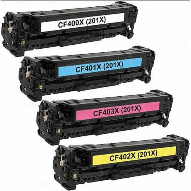 Huismerk HP 201X (CF400X T/M CF403X) Multipack