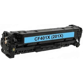 Huismerk HP 201X (CF401X) Toner Cyaan
