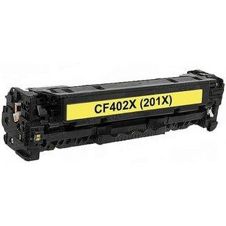 Huismerk HP 201X (CF402X) Toner Geel