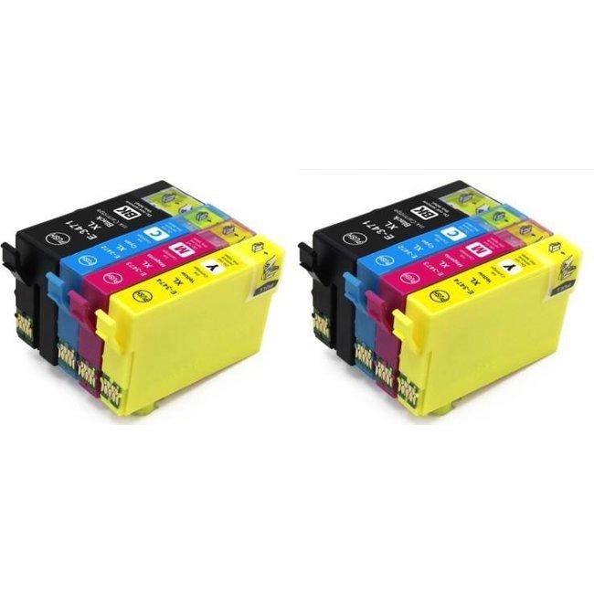 2x Huismerk Epson 34XL (T3476) Multipack incl. Chip 8set