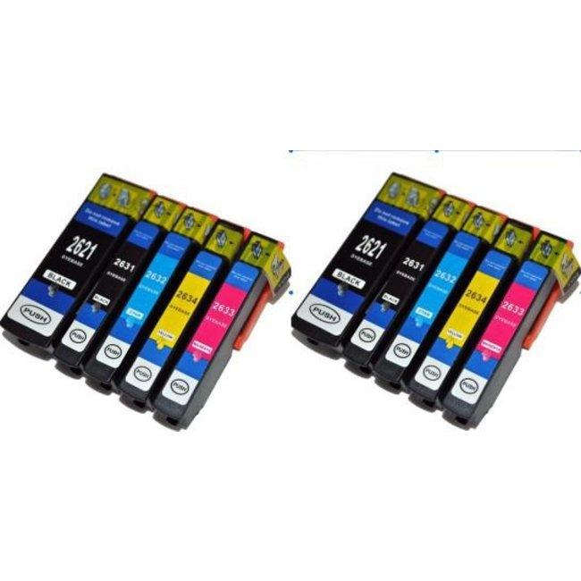 2x Huismerk Epson 26XL (T2636) Multipack incl. Chip 10set
