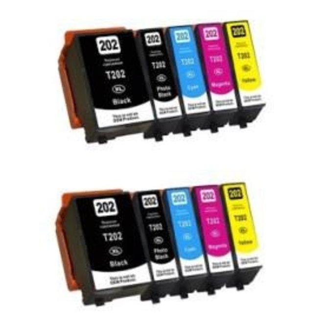 2x Huismerk Epson 202XL Multipack incl. Chip (10set)