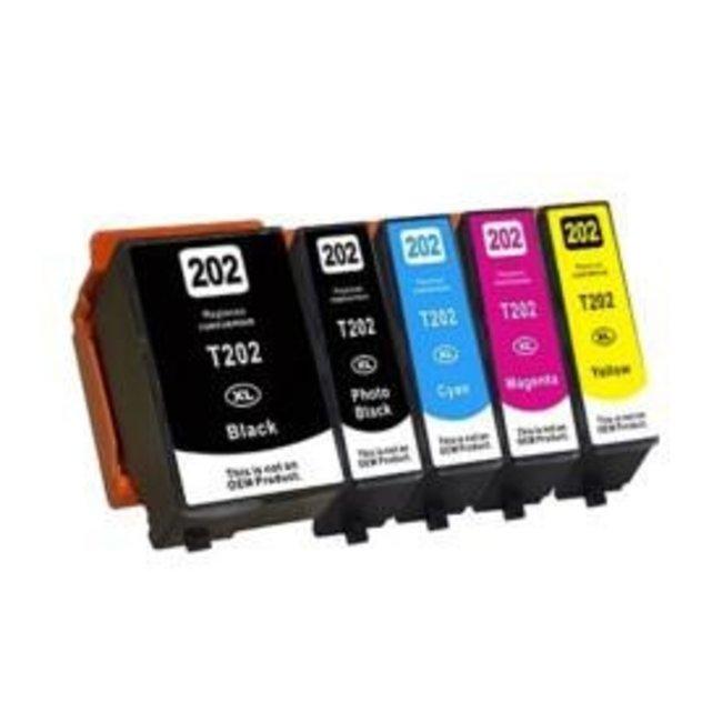 Huismerk Epson 202XL Multipack incl. Chip (5set)