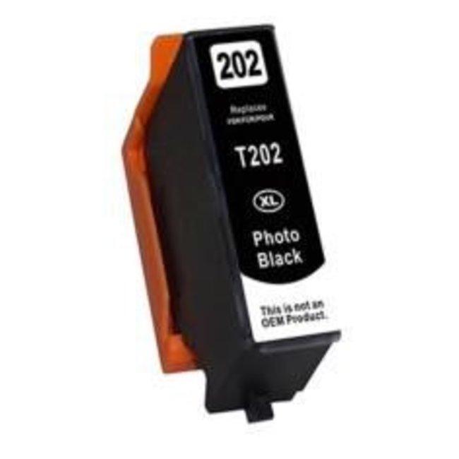 Huismerk Epson 202XL Fotozwart incl. Chip