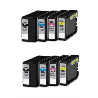 Huismerk Canon PGI-1500 XL Multipack incl. Chip (8set)
