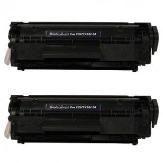 2x Huismerk Canon FX-10 toner Zwart