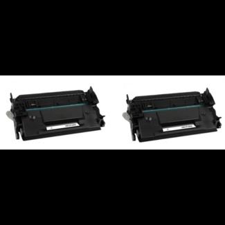 2x Huismerk HP 26X (CF226X) toner Zwart