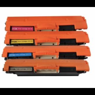 Huismerk HP 126A (CE310A t/m CE313A) Multipack