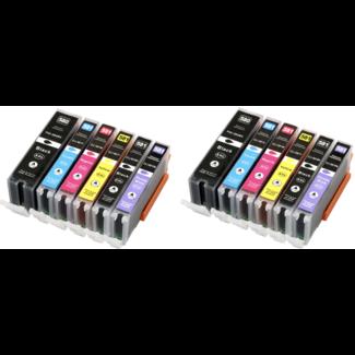 2x Huismerk Canon PGI-580 XXL + CLI-581 XXL Multipack incl. Chip (12set)