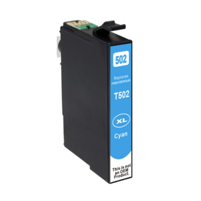 Huismerk Epson 502XL inktcartridge cyaan
