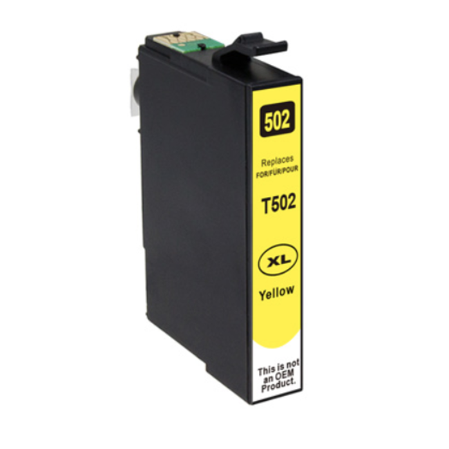 Huismerk Epson 502XL inktcartridge geel