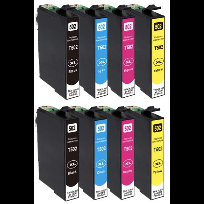 2x Huismerk Epson 502XL Multipack (8set)