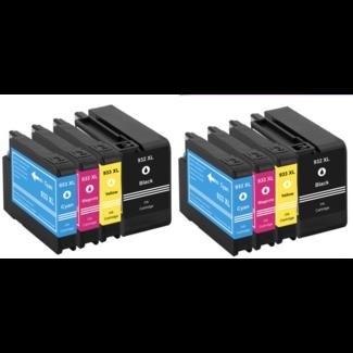 2x Huismerk HP 932XL + HP 933XL Multipack (8set)