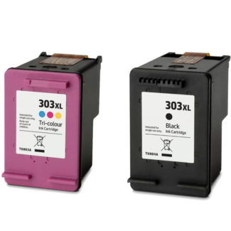 Huismerk HP 303XL (HT6N04AEPA + HT6N03AEPA) Multipack