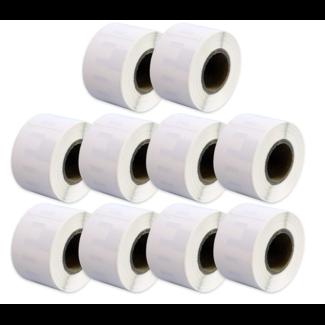 10 x Huismerk Dymo 99010 / S0722370 labels (89 mm x 28 mm)