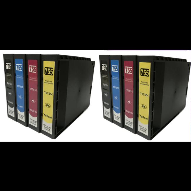 2x Huismerk Epson T7551 - T7554 Multipack (8set)