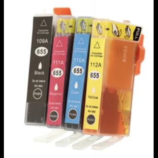 Huismerk HP 655 XL Cartridges Multipack (4set)