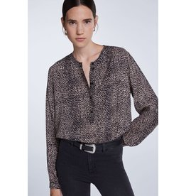 SET Blouse with essential leopard print