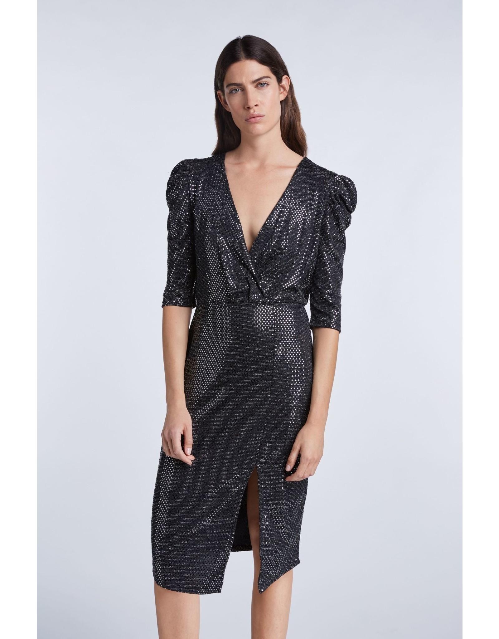 SET Fabulous metallic sequin evening dress
