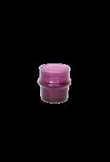 UNC Amsterdam Recycled handmade glass tea light holder purple 103711