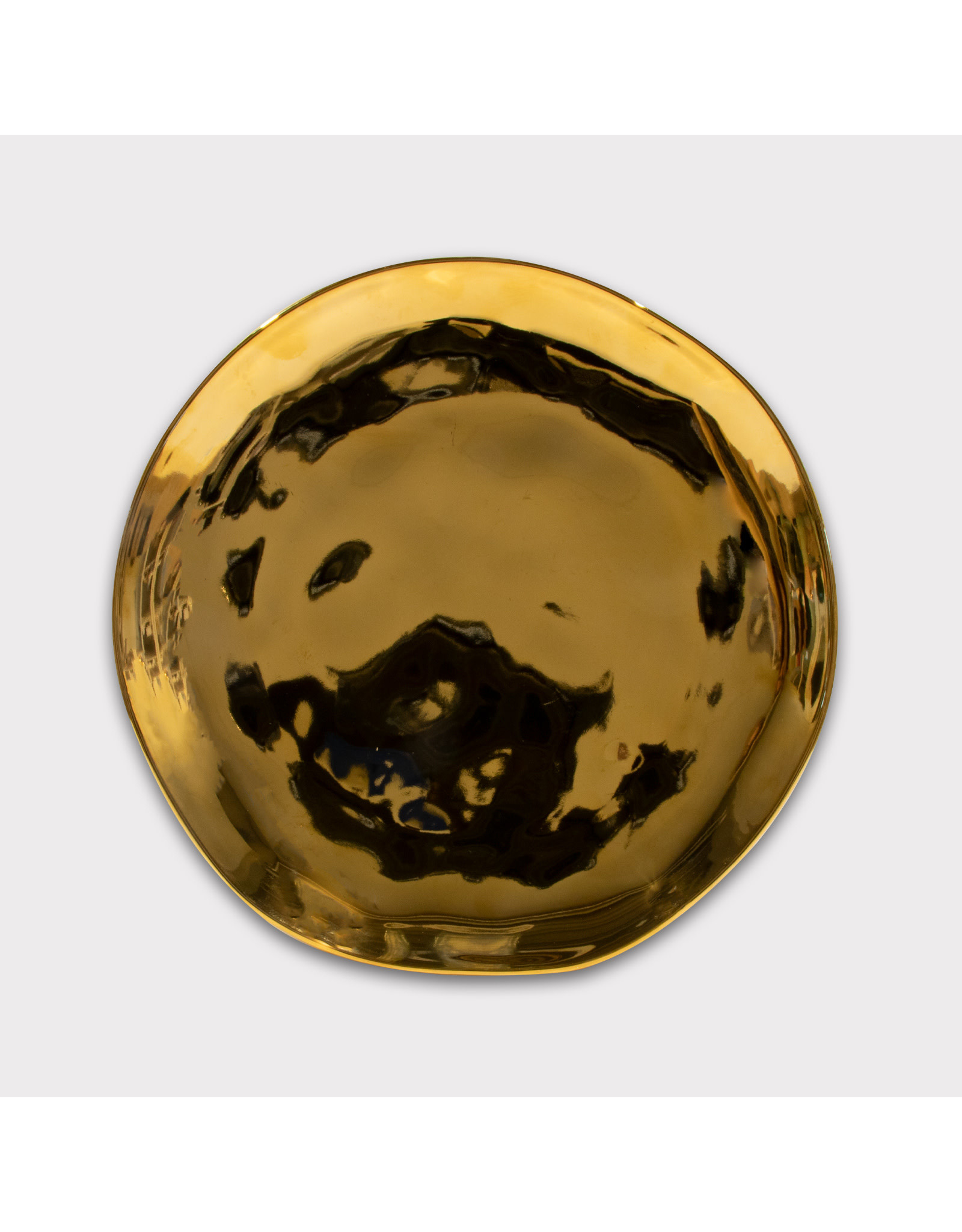 UNC Amsterdam Good Morning Plate, Gold