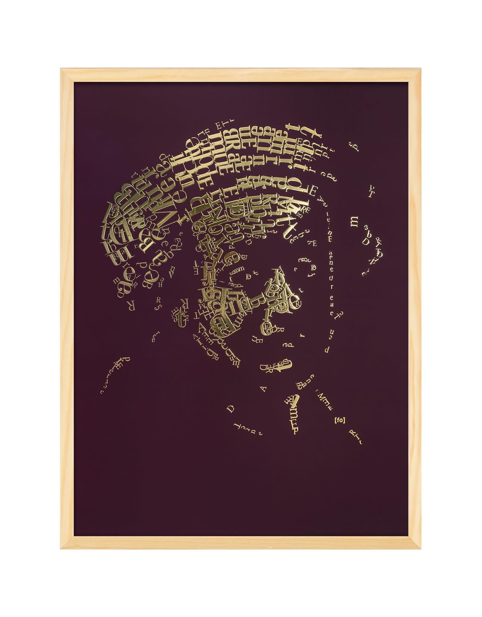 """""""Rembrandt type 1"""" Letterhead Gold Print colour Bordeaux (REM1GOLD23)"""