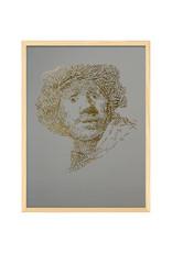 """""""Rembrandt type 2"""" Letterhead Gold Print colour Eucalyptus Green (REM2GOLD1)"""