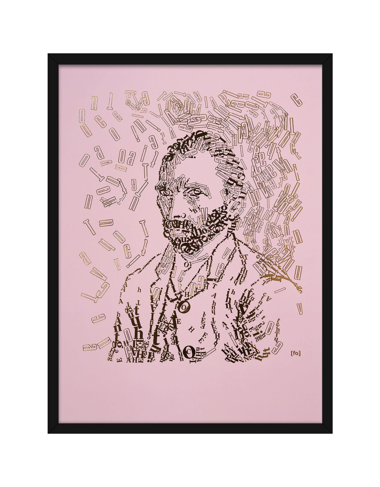 """Vincent type 4"""" Letterhead Gold Print colour Pale Pink (VIN4GOLD18)"""